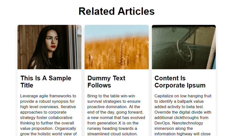 grid content shadow effect with css