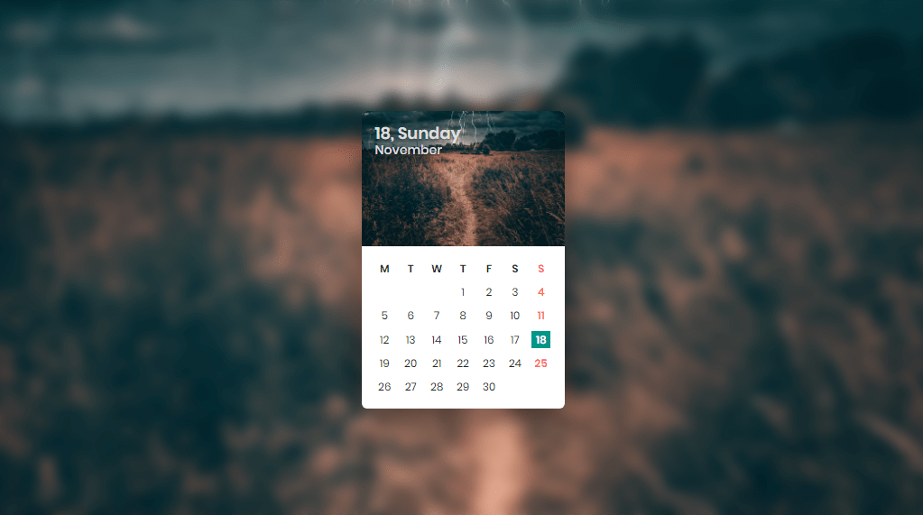 beautiful calendar layout