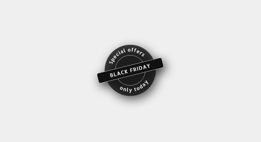 black friday discount badge css examples