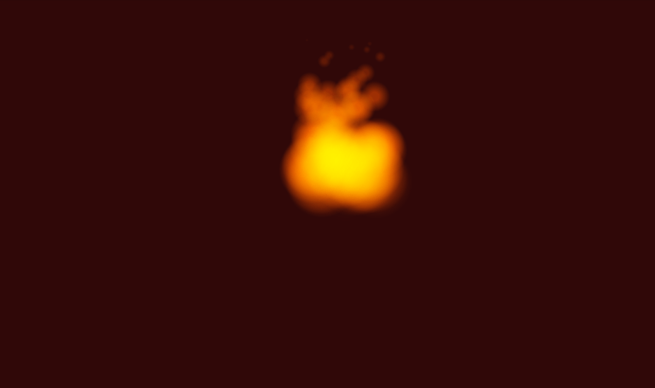 blurry fire animation effect