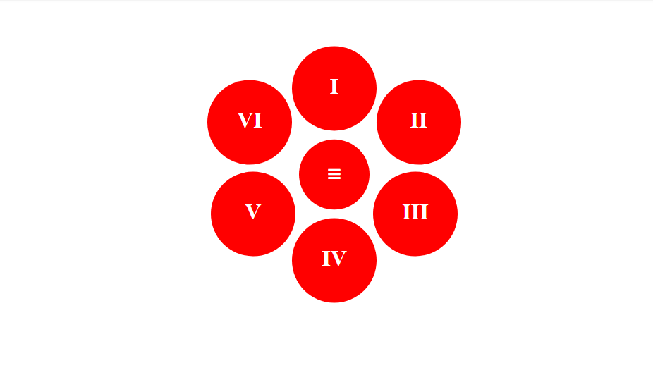 radial circle menu example