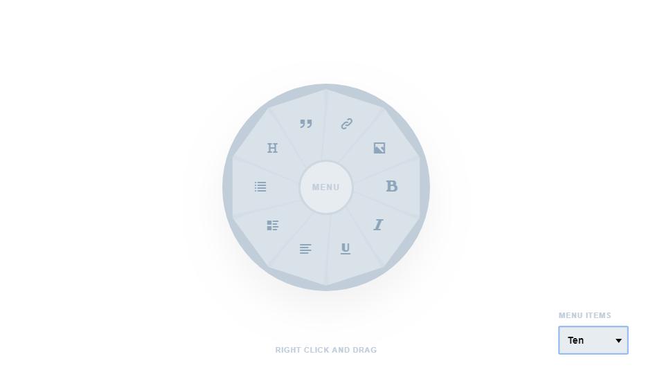 circular menu for multiple components