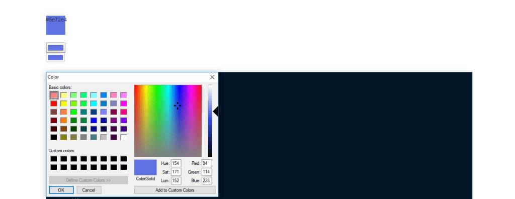 input color