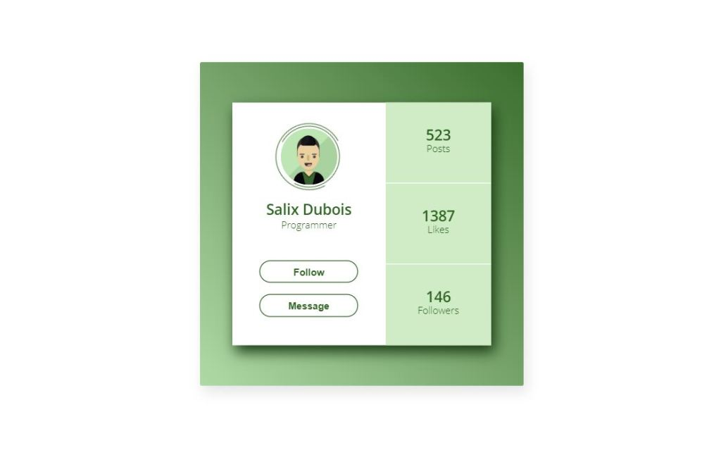 css html card