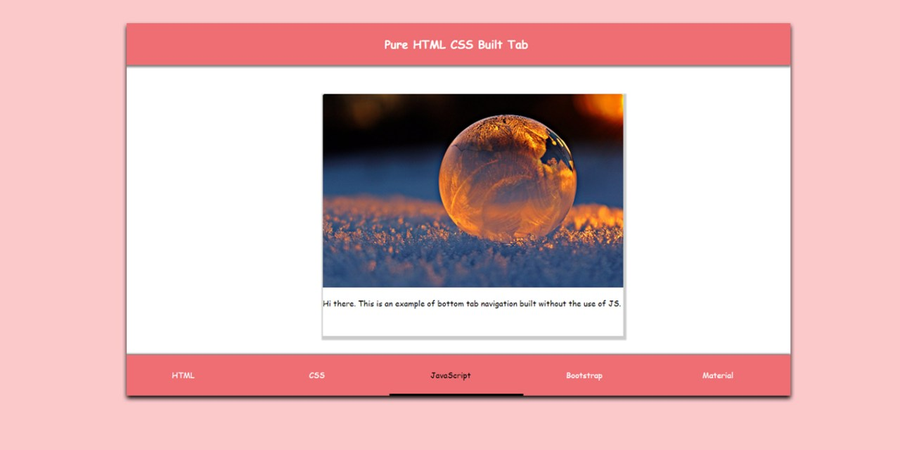 How to Make Bottom Navigation Tabs with CSS