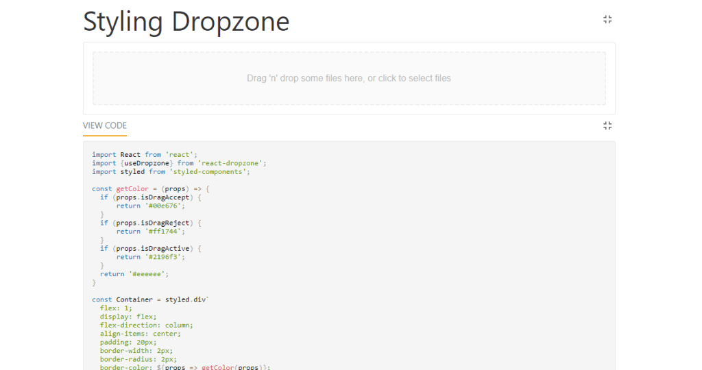 Files drag and drop using javascript