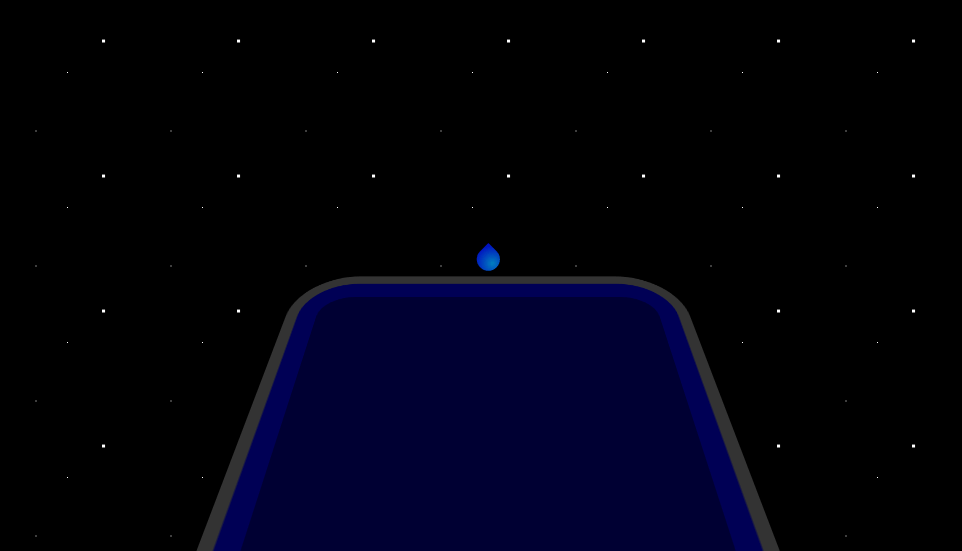 droplet ripple effect for pool