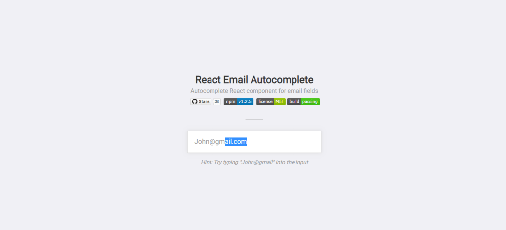 react autocomplete email example