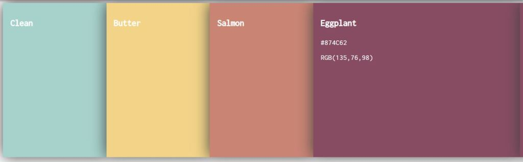 flexbox color palette html