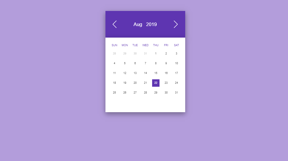 flipping calendar with css, html and javascript