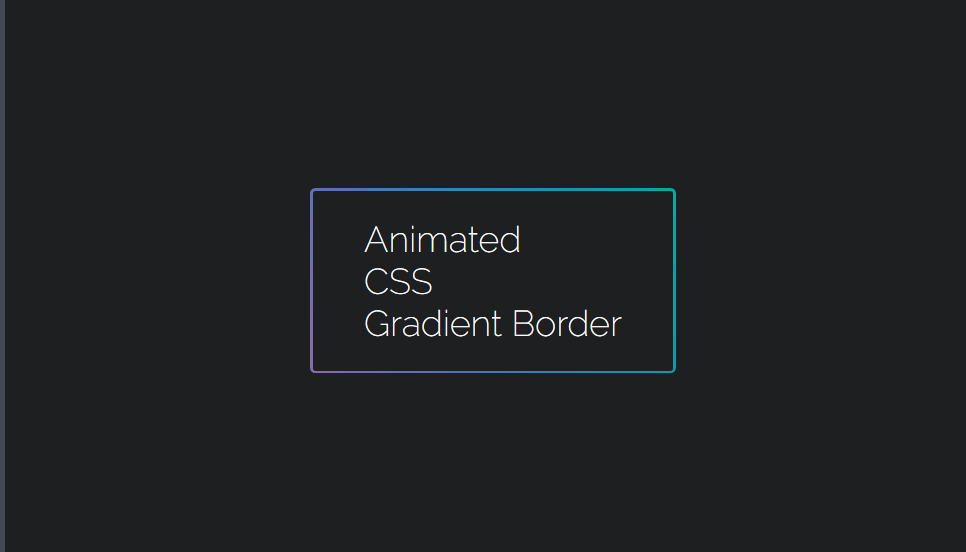 gradient color css border