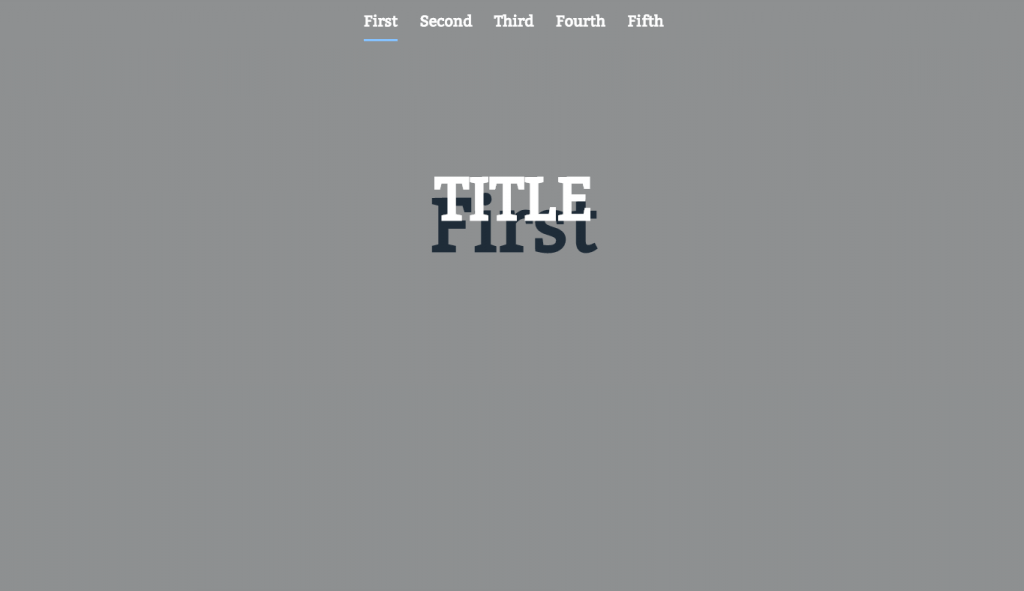 header scroll effect for one page nav menu with html and jquery