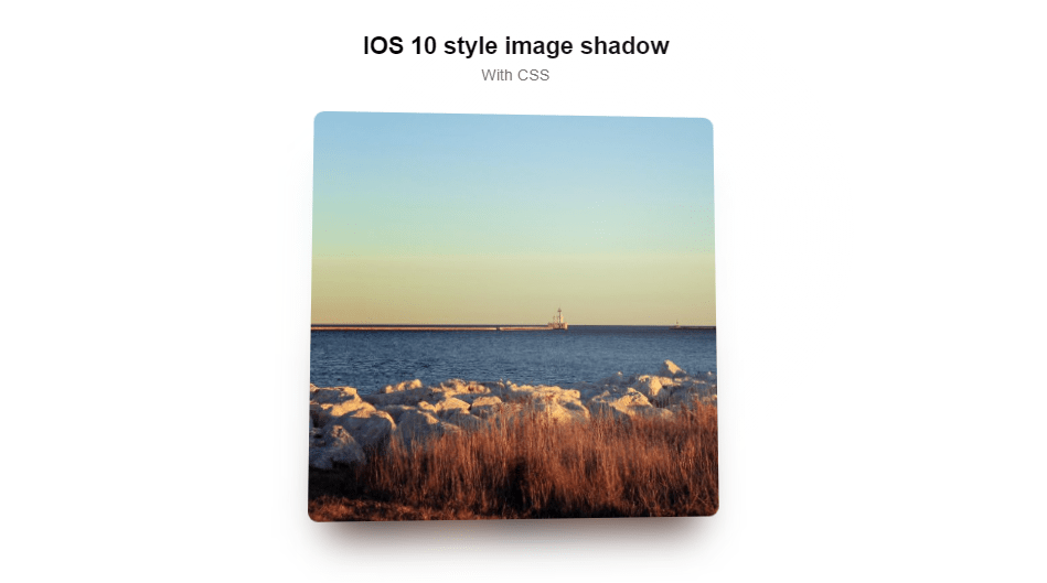 3d image shadow and hover effect