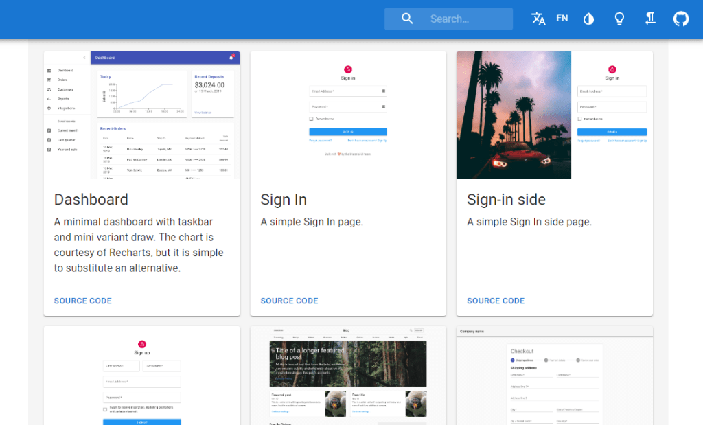 material ui components