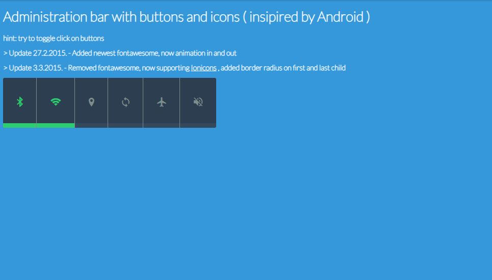 mobile setting menu