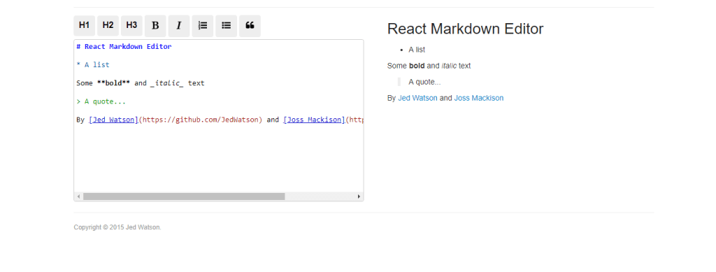 Editor Component React