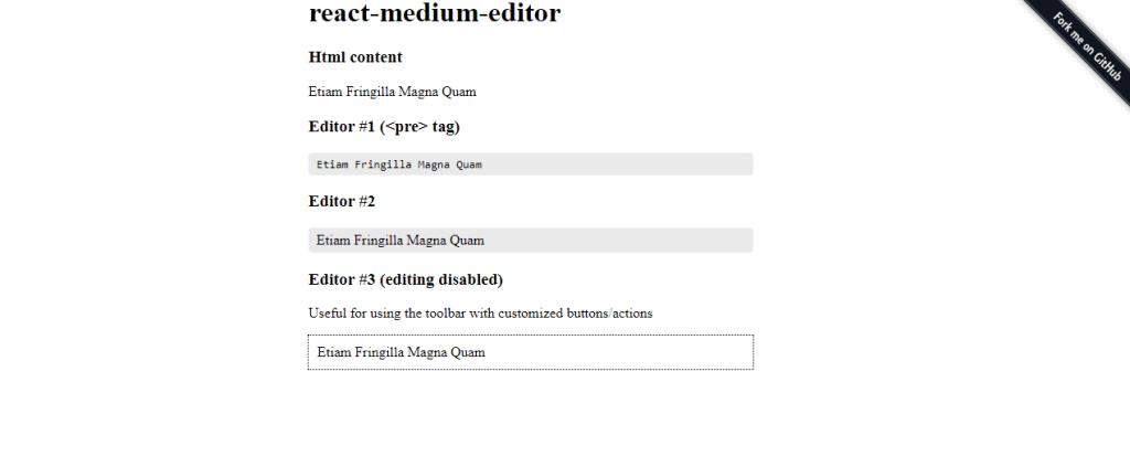 React medium wysiwyg editor
