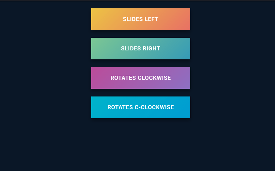 multiple effect for gradient color background