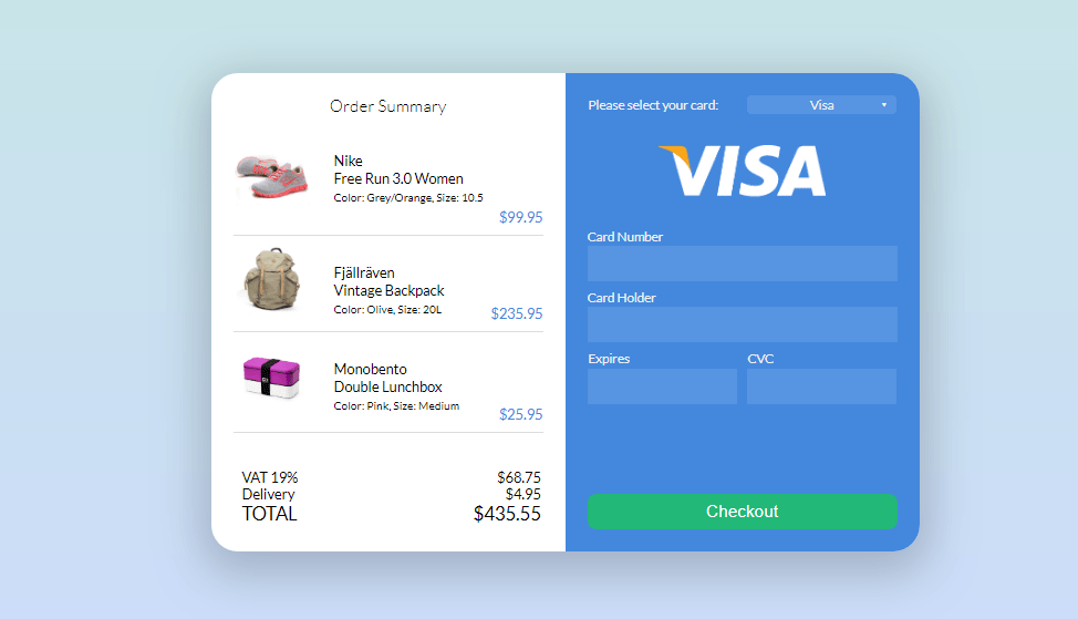 woocommerce checkout form for multiple products