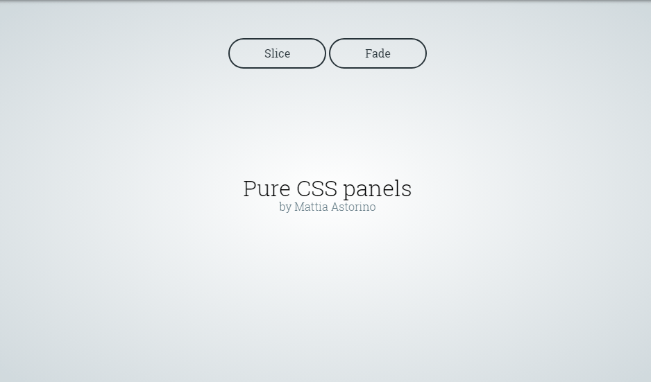 css panel examples