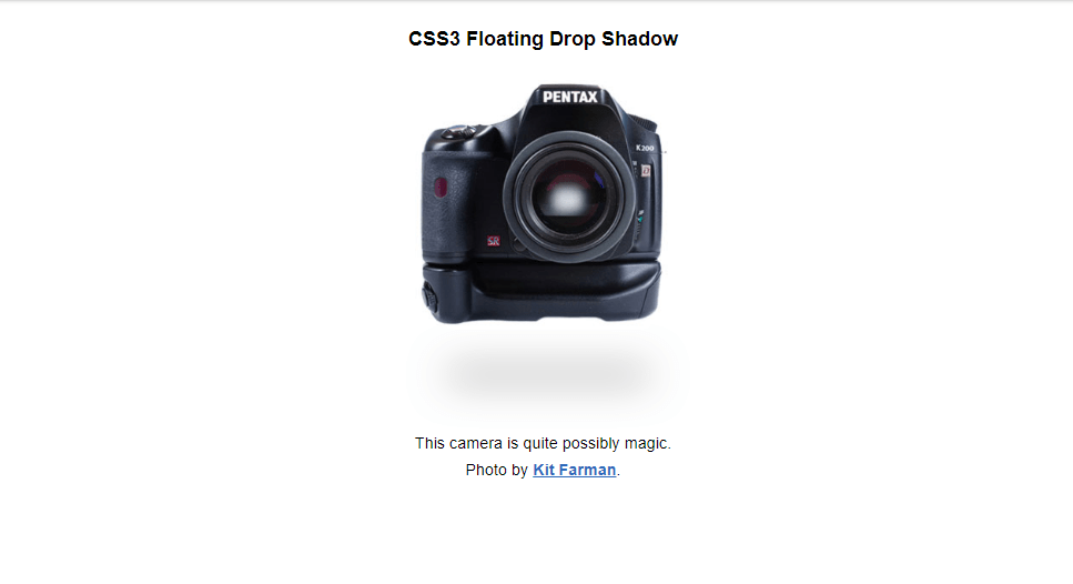 png shadow image with css