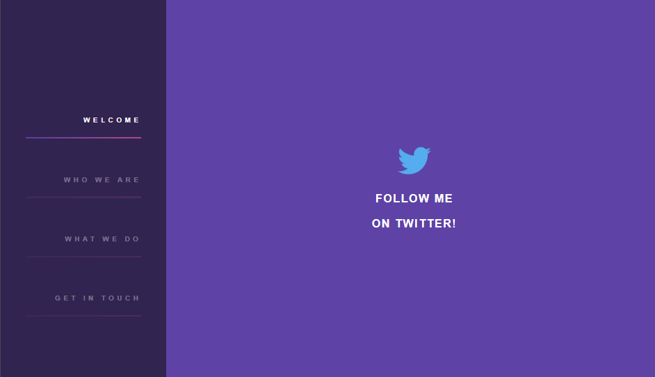 Purple sidebar css