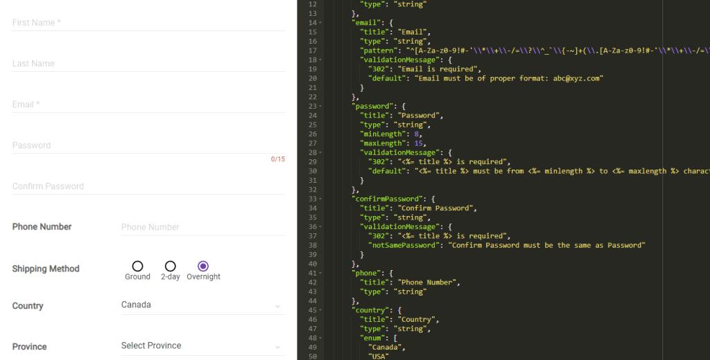 react toolbar form example