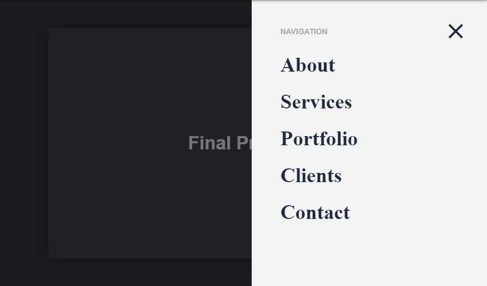 zoom out off-canvas menu