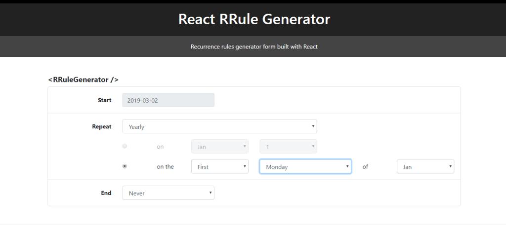 RRule Generator