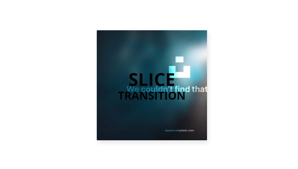 css slicing image transition