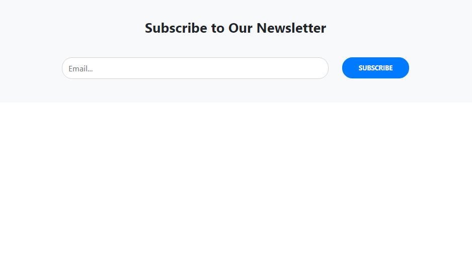 header subscription form