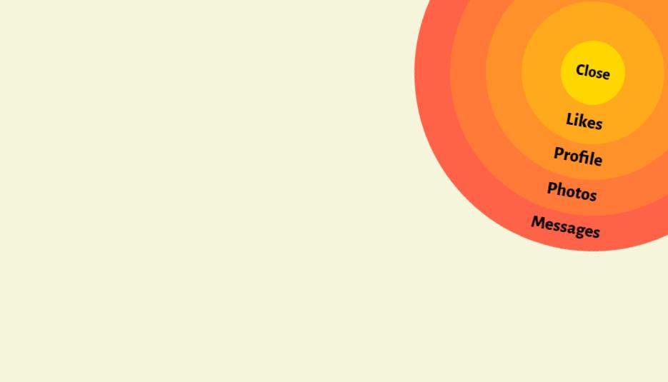 bootstrap circular menu example