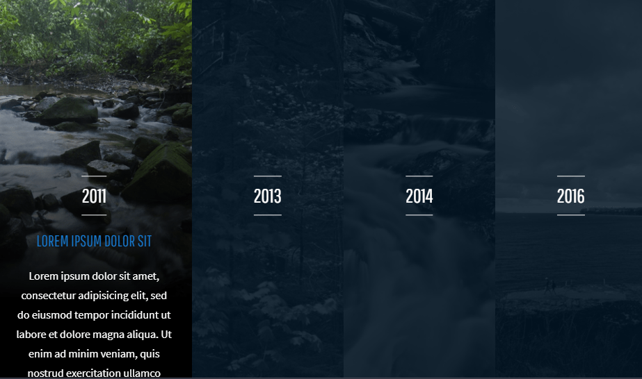 css html panel examples