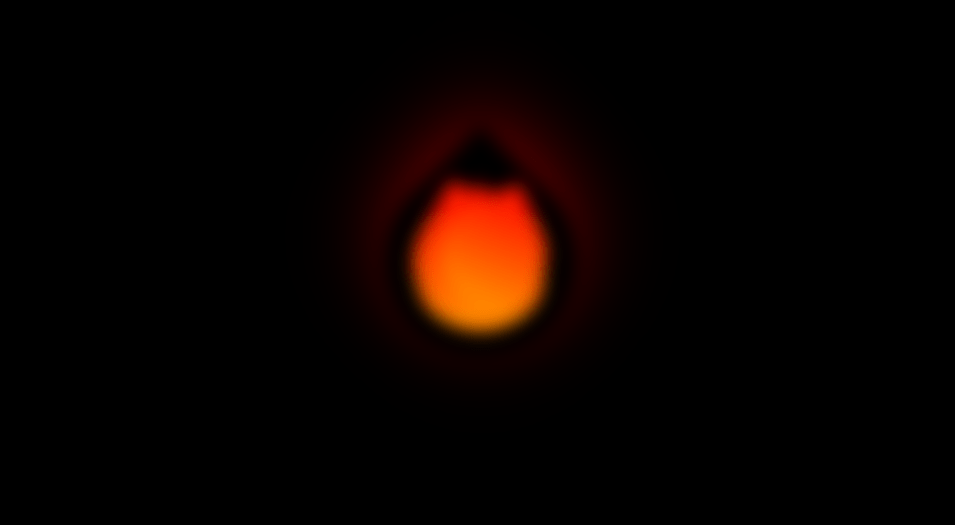 unfocused fire flame animation with css