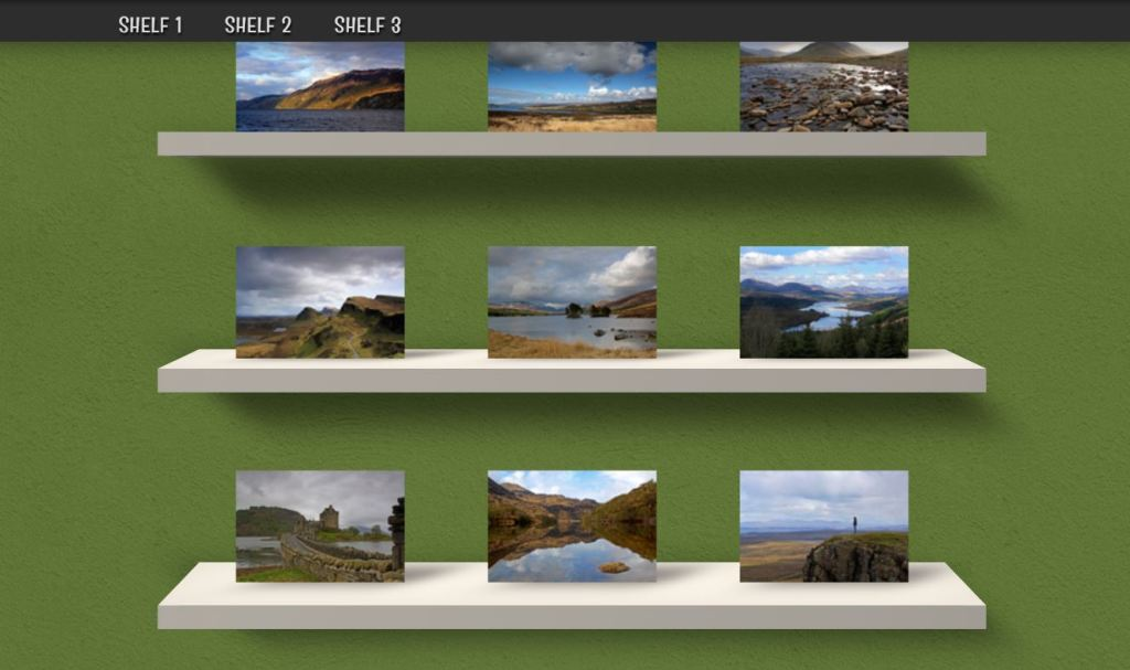 3D CSS Gallery