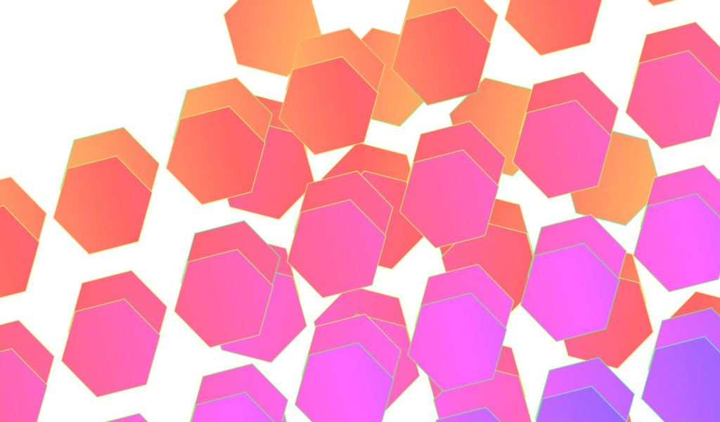 css hexagon grid examples with image and text