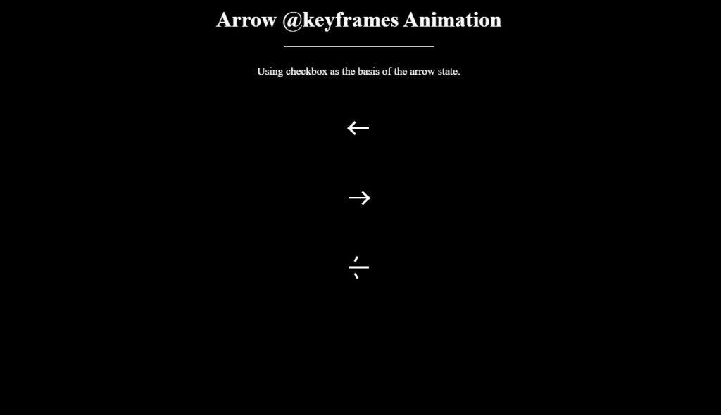 animated arrow down css