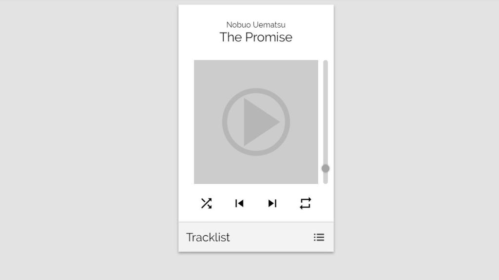 Music Audio Player HTML/HTML5 CSS to play music