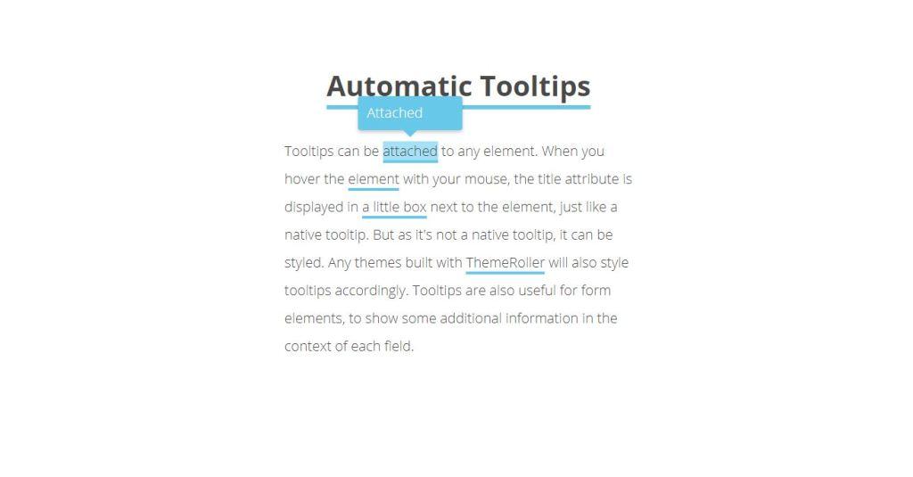 javascript animation tooltips atributes