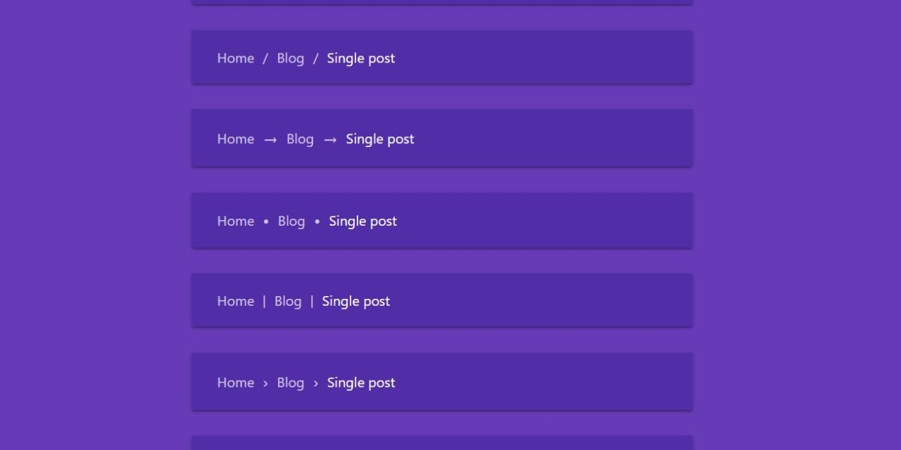 20+ Breadcrumb CSS Examples Code Snippet