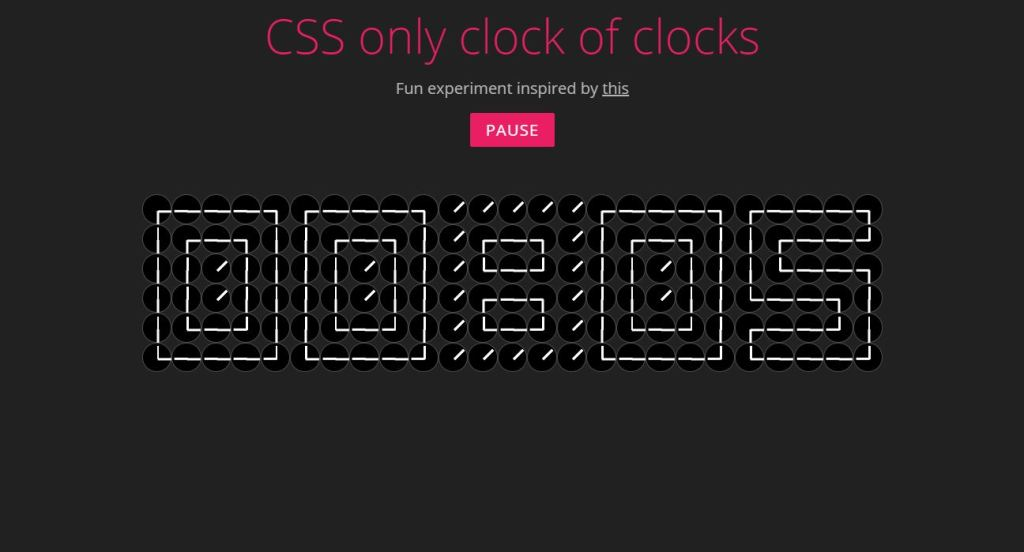 css only clock of clocks