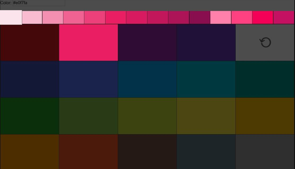 Color Picker Populates Input Field