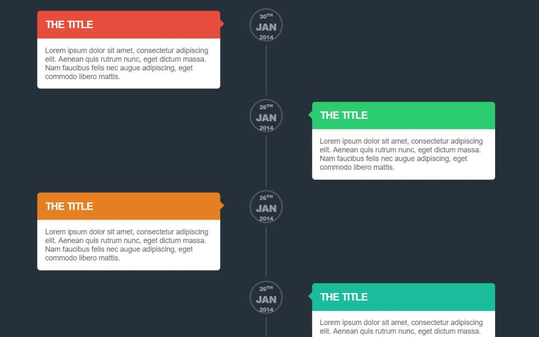 Vertical Timeline CSS Cool Examples