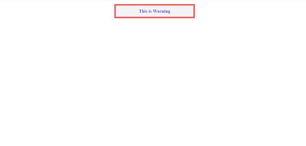 create blink warning