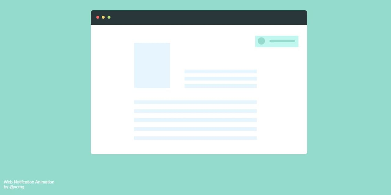 20+ CSS Notification Examples with Source Code