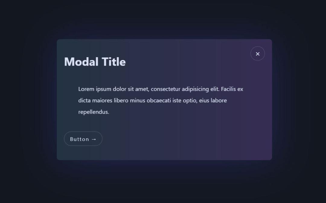 Modal CSS Window Examples