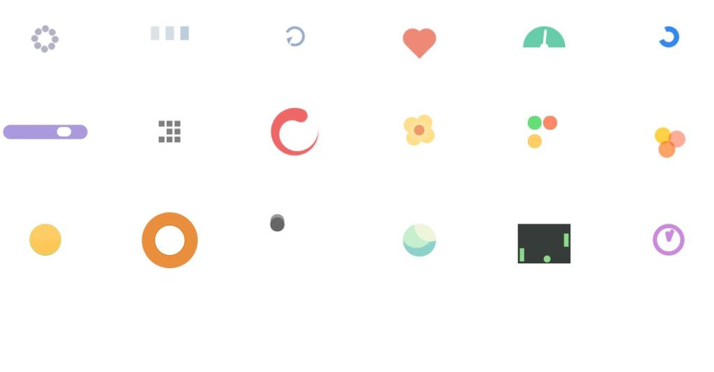 example of loading spinner with animation achieved using HTML, CSS/CSS3, Bootstrap and more.