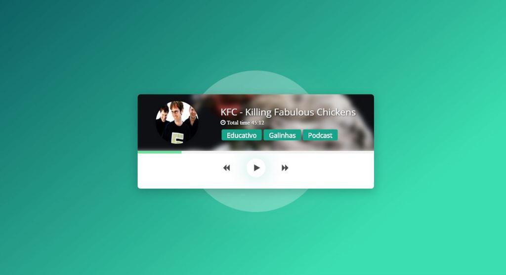 HTML5 css music player