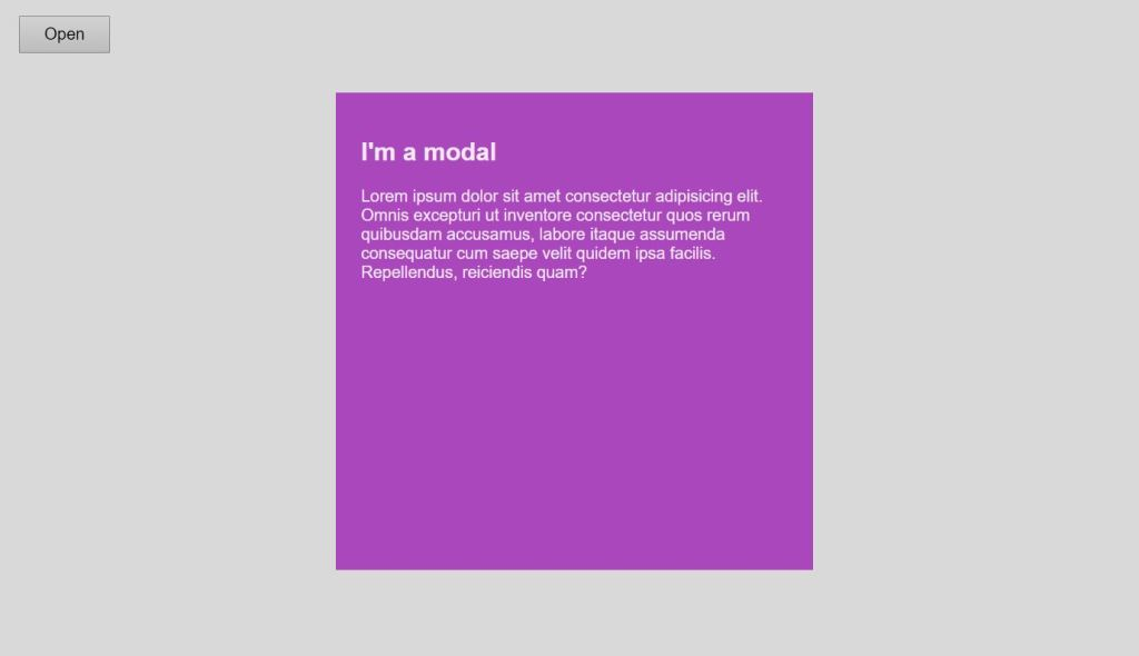 modal css window dialog box example with html css bootstrap with javascript