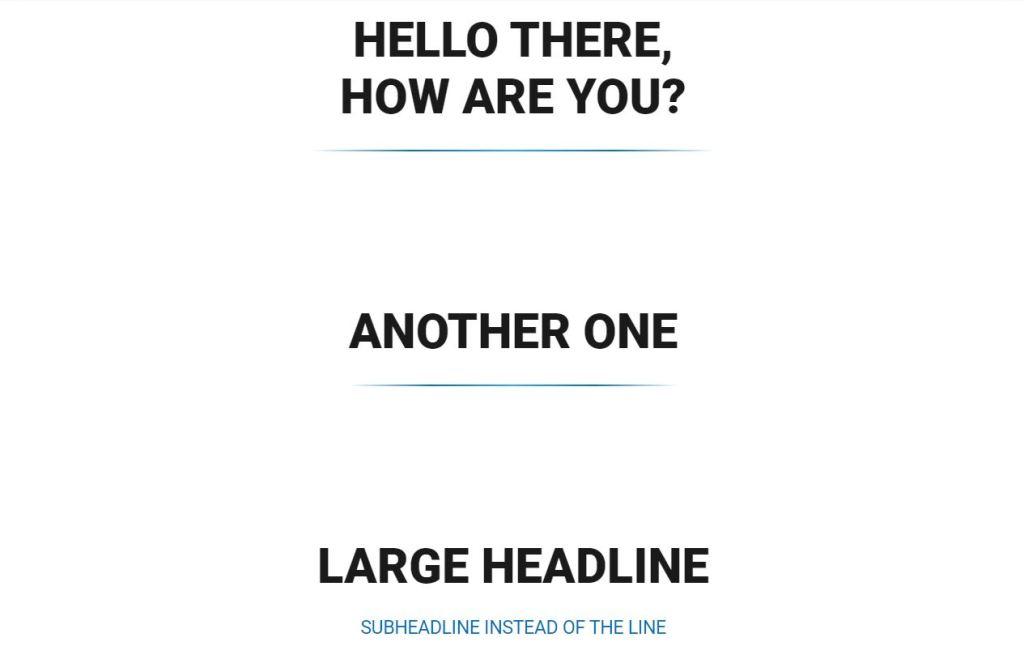 Gradient HR line examples